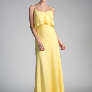 Yellow Sleeveless Long Prom Dress CDCF074